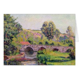 El puente en Boigneville, c.1894 Tarjeta De Felicitación