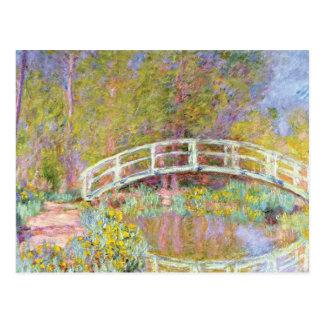 El puente en el jardín de Monet de Claude Monet Postal