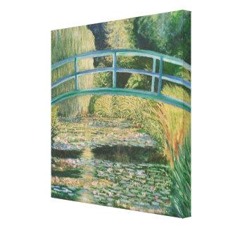 El puente en el jardín japonés impresiones en lona estiradas