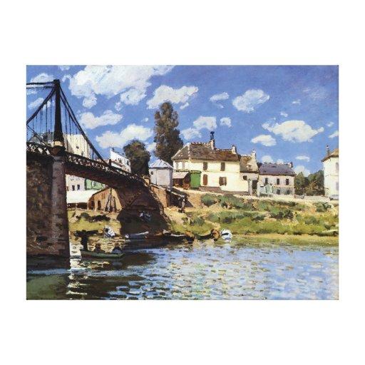 El puente en el Villeneuve-la-Garenne Impresiones En Lona