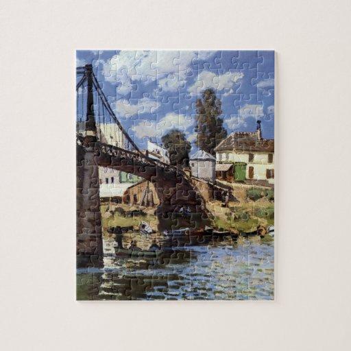 El puente en el Villeneuve-la-Garenne Puzzle