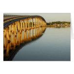 El puente en Goodland, isla de Marco, la Florida Felicitación