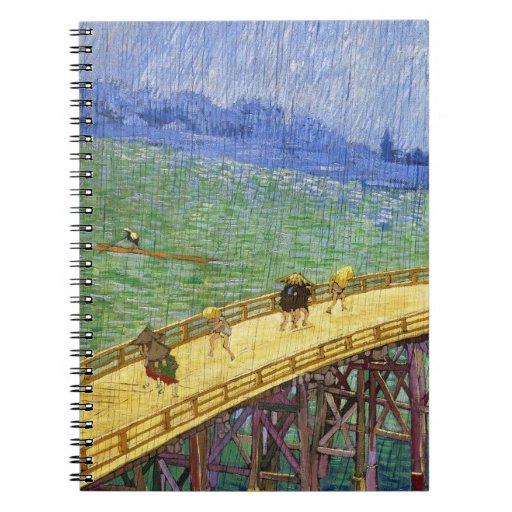 El puente en la bella arte de Vincent van Gogh de  Libretas