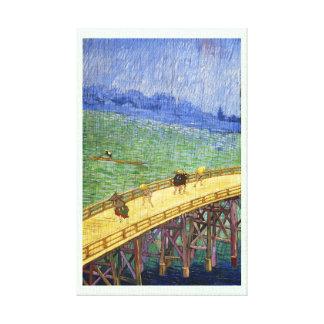 El puente en la bella arte de Vincent van Gogh de  Impresion De Lienzo