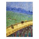 El puente en la bella arte de Vincent van Gogh de  Postal