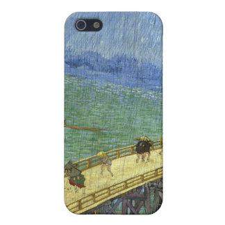 El puente en la lluvia (después de Hiroshige) Van iPhone 5 Carcasa