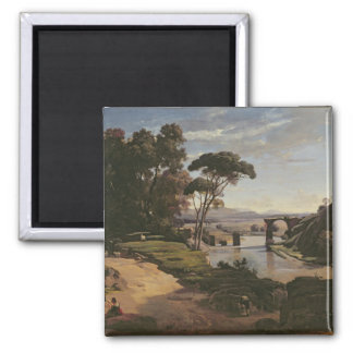 El puente en Narni, c.1826-27 Imán Cuadrado