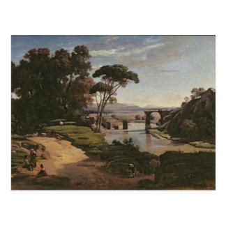 El puente en Narni, c.1826-27 Postal