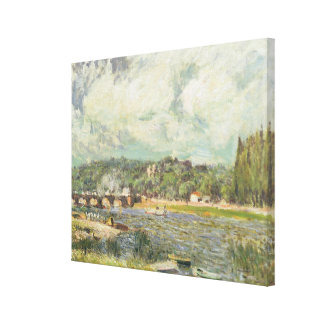 El puente en Sevres, c.1877 (aceite en lona) Impresión En Tela