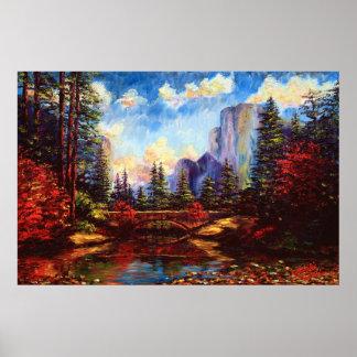 El puente en Yosemite Poster