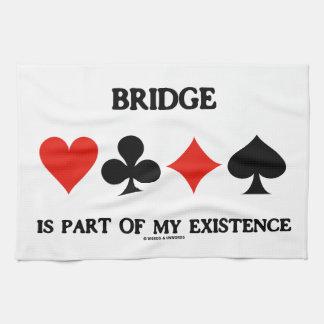 El puente es parte de mi existencia (cuatro juegos toalla de mano