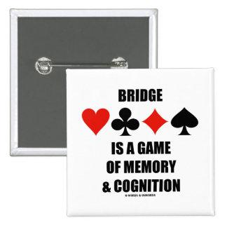 El puente es un juego de la memoria y de la cognic pin