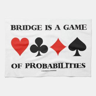 El puente es un juego de las probabilidades (los j toallas