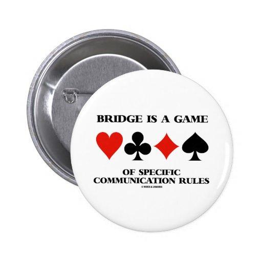 El puente es un juego de las reglas específicas de pin