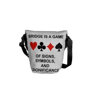 El puente es un juego de los símbolos Signifcance  Bolsa Messenger