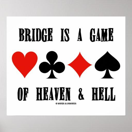 El puente es un juego del cielo y del infierno (lo posters