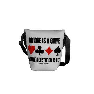 El puente es un juego donde está llave la bolsas de mensajería