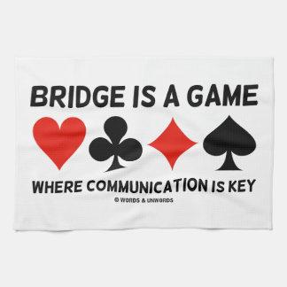El puente es un juego donde está llave la toalla