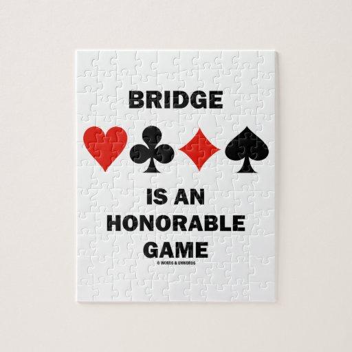 El puente es un juego honorable (cuatro juegos de puzzles con fotos