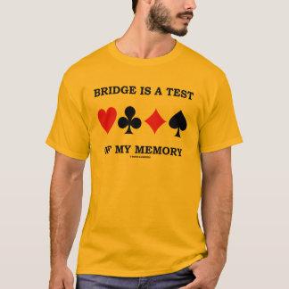 El puente es una prueba de mi memoria (cuatro playera