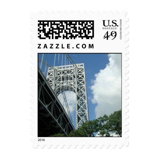 El puente GWB de NYC del lado de NY sella Sellos