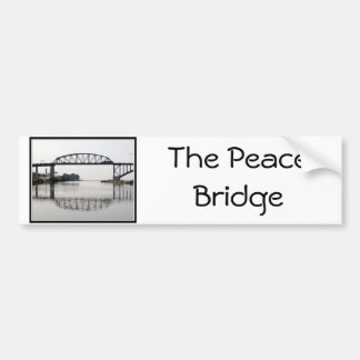El puente internacional de la paz etiqueta de parachoque