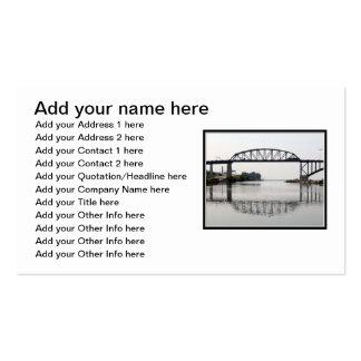 El puente internacional de la paz plantillas de tarjetas personales