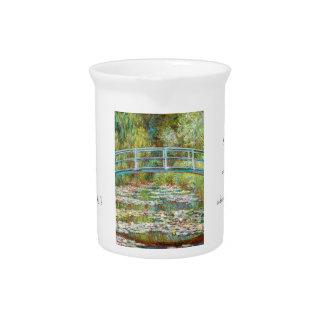 El puente japonés Claude Monet 1899 Jarra Para Bebida