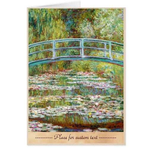 El puente japonés Claude Monet 1899 Tarjeta Pequeña