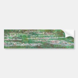 El puente japonés Claude Monet Pegatina De Parachoque