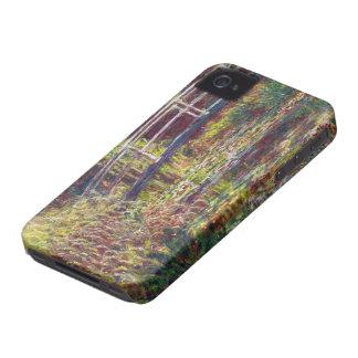 El puente japonés Claude Monet fresco, viejo, amo Carcasa Para iPhone 4