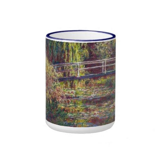 El puente japonés Claude Monet fresco, viejo, amo Taza De Café