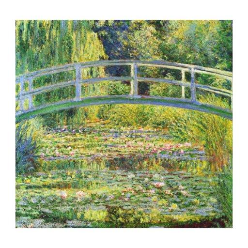El puente japonés - Claude Monet Impresión De Lienzo