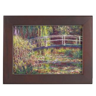 El puente japonés Claude Monet que pinta arte Caja De Recuerdos