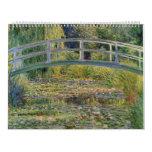 El puente japonés de Claude Monet Calendarios