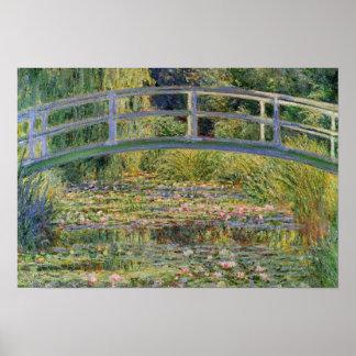 El puente japonés de Claude Monet Póster