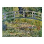 El puente japonés de Claude Monet Tarjetas Postales