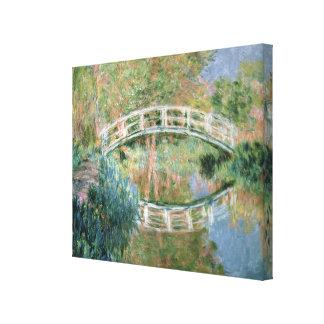 El puente japonés, Giverny, 1892 (aceite en lona) Impresión De Lienzo