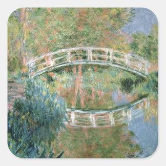 El puente japonés, Giverny, 1892 (aceite en lona) Pegatina Cuadrada