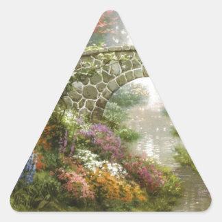 El puente mágico pegatina triangular