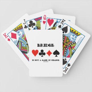 El puente no es un juego de azar (cuatro juegos de baraja de cartas bicycle