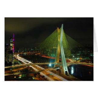 El puente Sao Paulo de Octavio Frias de Oliveira Tarjeta De Felicitación