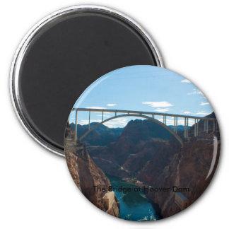El puente sobre el Preso Hoover Imán Redondo 5 Cm