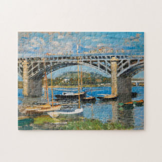 El puente sobre la bella arte del Sena Monet Rompecabeza Con Fotos