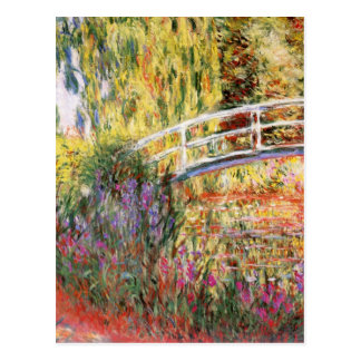 El puente y las flores de Monet Postal