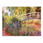 El puente y las flores de Monet Tarjeta Postal