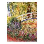El puente y las flores de Monet Tarjetas Postales