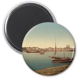 El puerto, Burdeos, Francia Imán Redondo 5 Cm