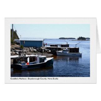 El puerto Coddle, individuos. Co., Nueva Escocia Tarjeta De Felicitación