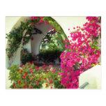El puerto de coche rosado de las casas, Moraira, B Postal